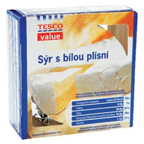 Sýr s bílou plísní z Tesca